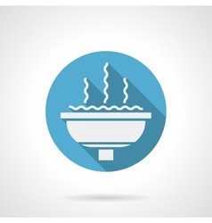 Cupped fountain round flat icon vector