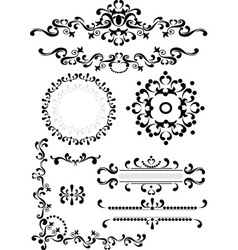Decorative corner border frame vector