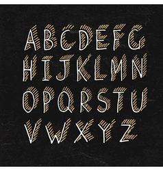 alphabet on blackboard texture vector image vector image