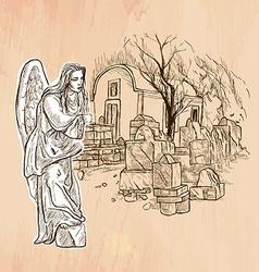Angel - An hand drawn Line art vector image vector image