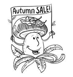 Autumn sale shopping banner vector image vector image