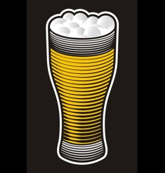 Beer pint vector