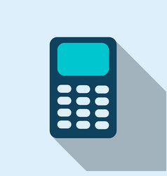 calculator icon in flat style vector image vector image