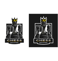 chess game emblem logo vector image vector image