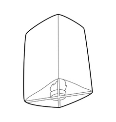 Chinese lantern icon outline style vector