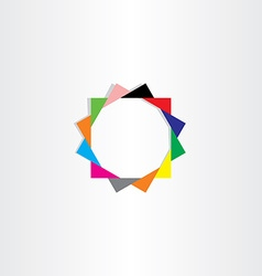 color star with triangles vector image