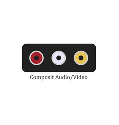 composit audio video vector image vector image