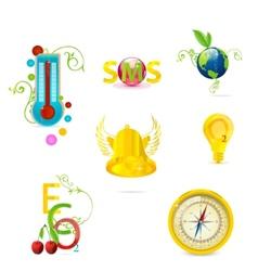 eco symbols set vector image