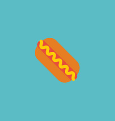 flat icon hot dog element of vector image vector image