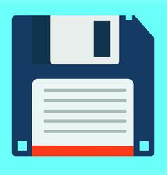 Floppy disk flat design vector