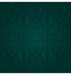 Floral seamless pattern on a green backgrond vector image vector image