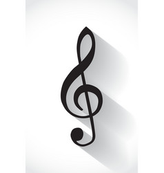 G clef vector image