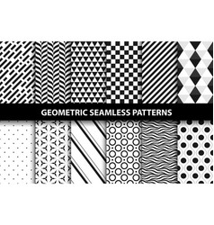 Geometric patterns - seamless collection vector