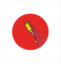 glue icon on white background vector image vector image