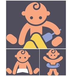 Kids activities icons set vector
