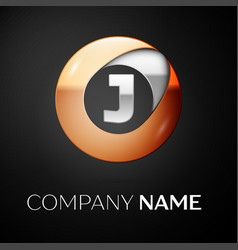 letter j logo symbol in the colorful circle vector image