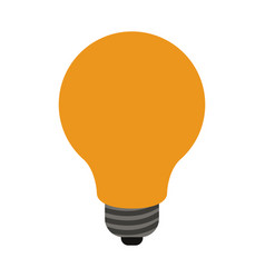 light bulb in white background vector image vector image
