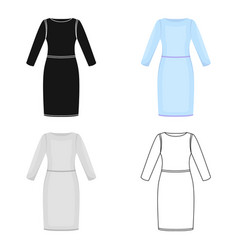 long dress icon of for web and vector image vector image