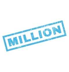 Million rubber stamp vector