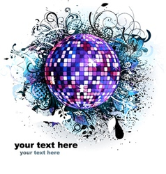 music background with discoball vector image vector image