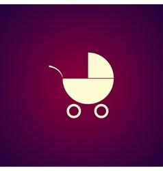Pram icon Flat design style vector image vector image
