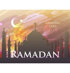 Ramadan greeting card vector