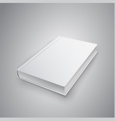 Realistic book with white cover mock up of books vector