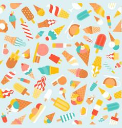 seamless pattern ice cream vector image vector image