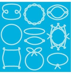 Set of marine rope frames vector image vector image