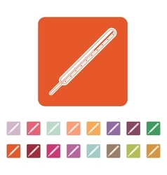 The medical thermometer icon vector