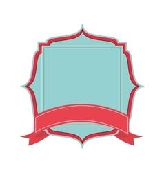 Delicate feminine emblem icon vector
