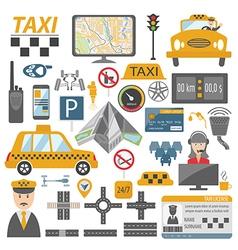 Taxi icon Flat design vector image