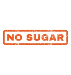 No sugar rubber stamp vector