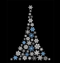 Abstract christmas tree simple drawing vector