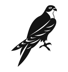 Falcon icon simple style vector