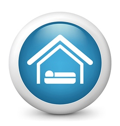 Accommodation glossy icon vector