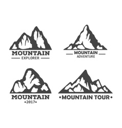 Hill landscape or mountain pick set of icons vector