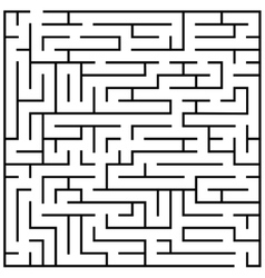 Maze puzzle labyrinth brain teaser kids game vector