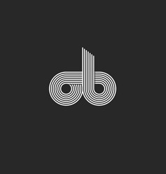 combination letters ob logo monogram for business vector image