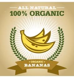 Organic banana vector