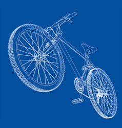 Bicycle wire-frame style vector