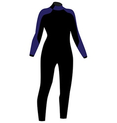 Diving suit vector