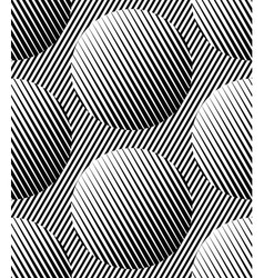 Abstract striped circles geometric seamless vector