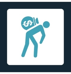 Money courier icon from commerce buttons overcolor vector