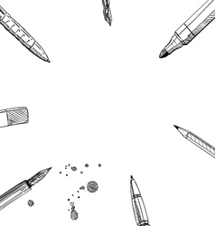 Frame pens backgrounds vector