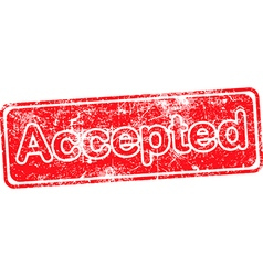 Accepted red grunge rubber stamp vector