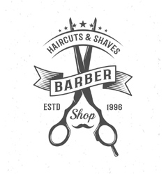 Barber scissors composition vector