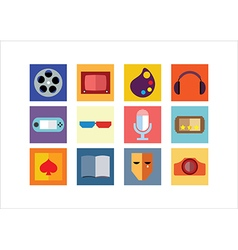 Entertainment color flat icon vector
