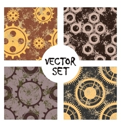 Set of seamless patterns endless background vector