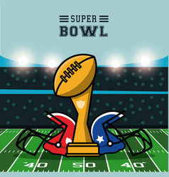 American football bowl tournament vector